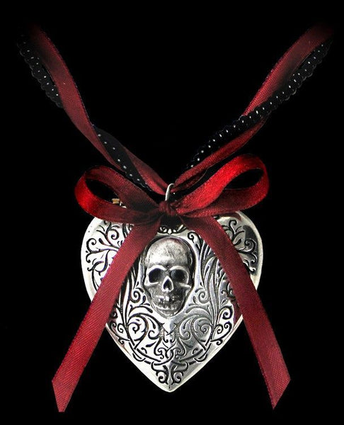 "Alchemy Gothic ""The Reliquary Heart""  Pendant and Necklace"