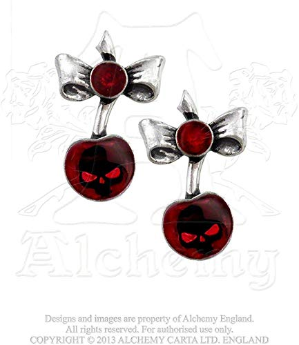 "Alchemy Gothic ""Black Cherry""  Earrings (Pair)"