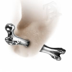 Alchemy Gothic Femur Bone Faux Stretcher Earring (single)