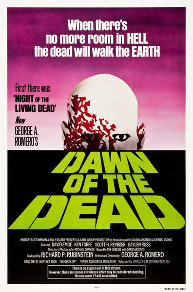 Dawn of the Dead 27x40 Movie Poster Print