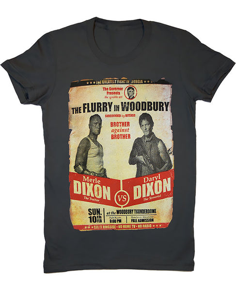 "Walking Dead ""Flurry in Woodbury"" Women's Fitted T-Shirt"