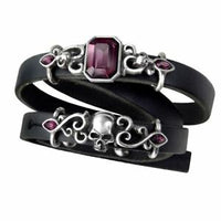 "Alchemy Gothic ""Pirate Princess""  Leather Wrist Strap"