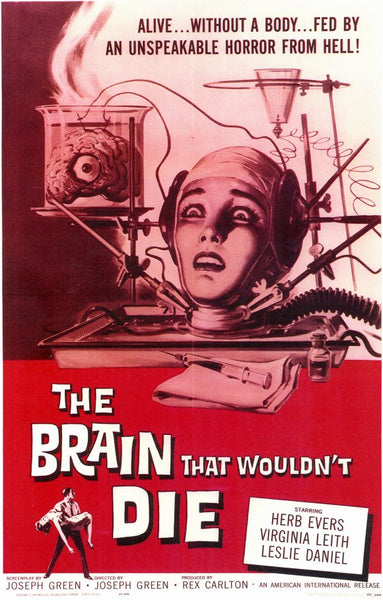 The Brain that Wouldn't Die 27x40 Movie Poster Print