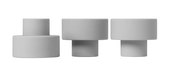 Blomus TRIO CANDLE OR TEALIGHT HOLDER Mirage Gray - SET OF 3