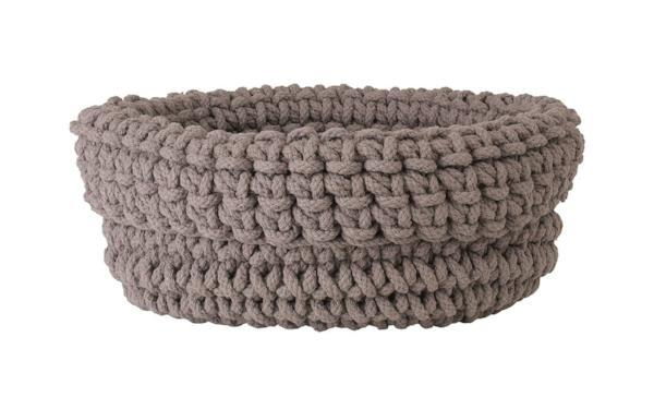 Blomus COBO KNITTED COTTON ROUND BASKET Fungi Dust 8 X 16