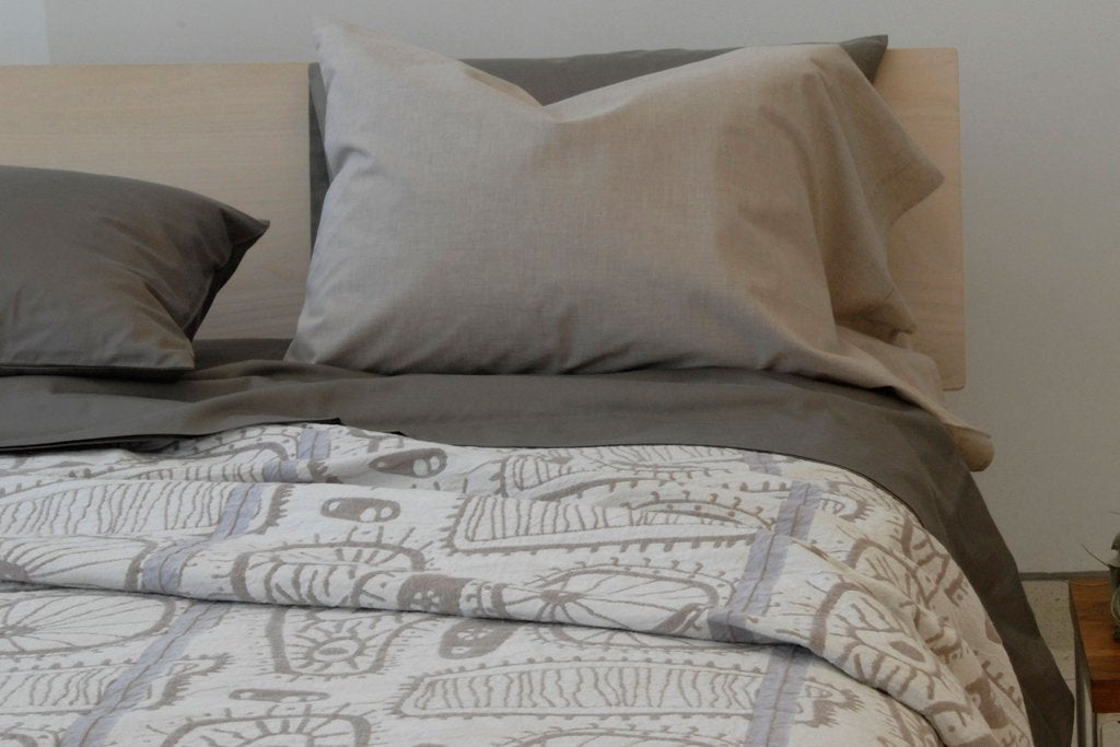 Area Bedding Cellma Grey Euro Case