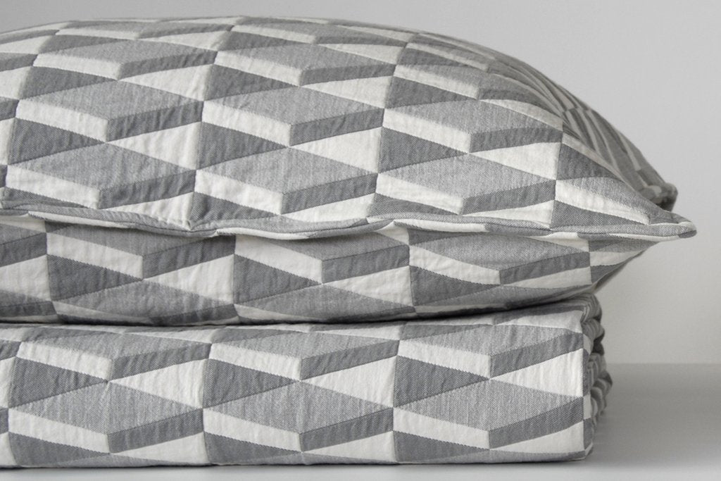 Area Bedding Kline Grey Euro Pillow Cover