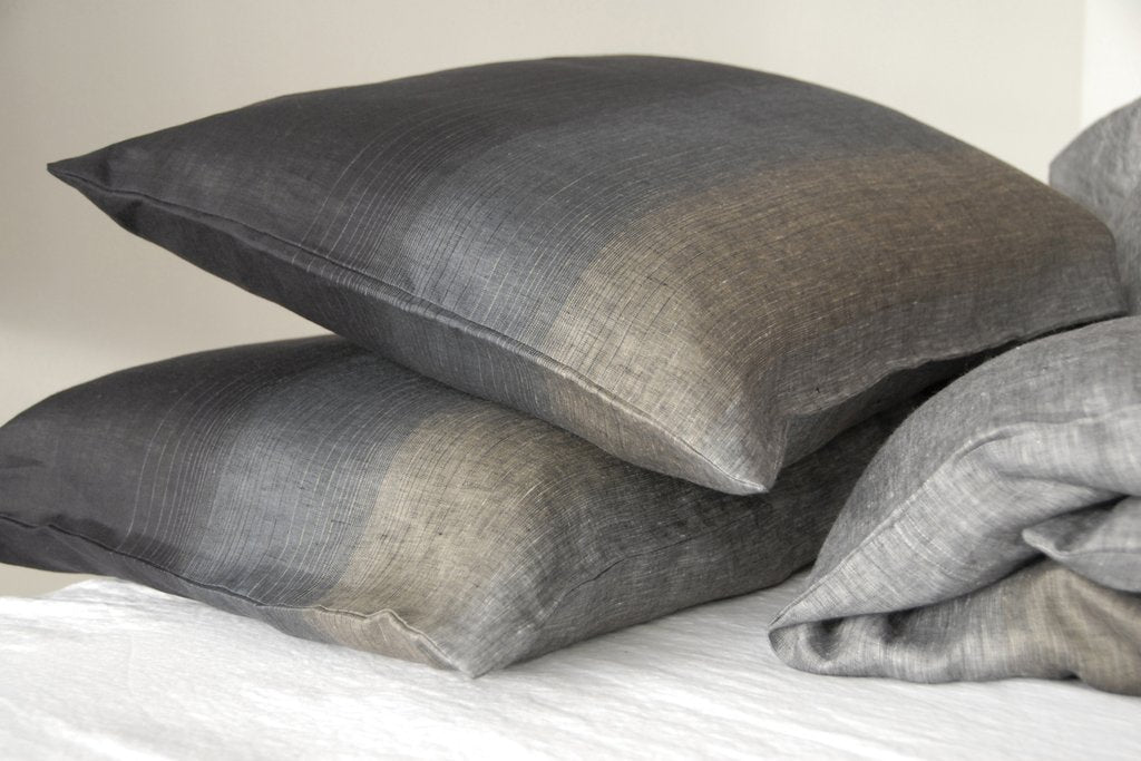Area Bedding Ines Grey Standard Cases Pair
