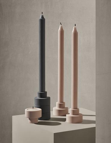 Blomus TRIO CANDLE OR TEALIGHT HOLDER Gunmetal - SET OF 3