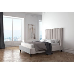 Zuo Modern Gilded Age King Bed Dove Grey