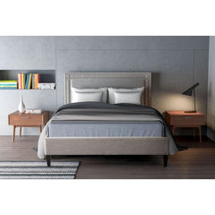 Zuo Modern Renaissance Queen Bed Dove Grey