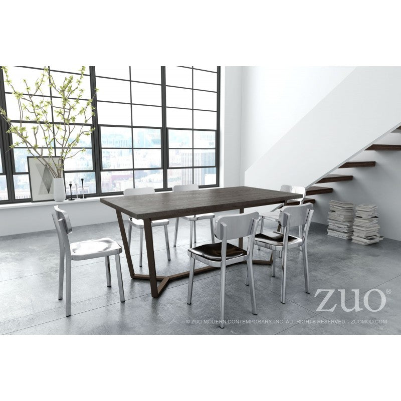 Zuo Modern Brooklyn Dining Table Gray Oak ABrass Modern Karibou Magnificent Dining Room Brooklyn