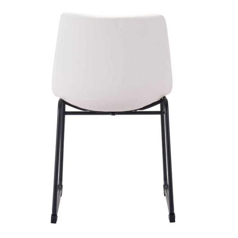 Zuo Modern Smart Dining Chair Distressed White