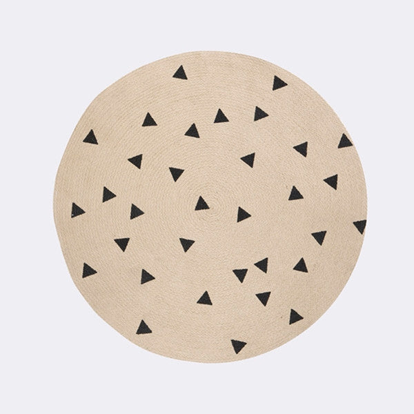 ferm LIVING Round Carpet Triangle Large