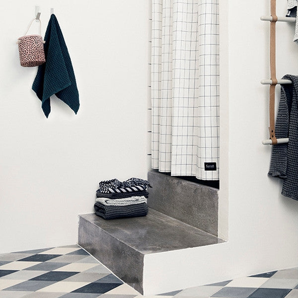 ferm LIVING Grid Shower Curtain