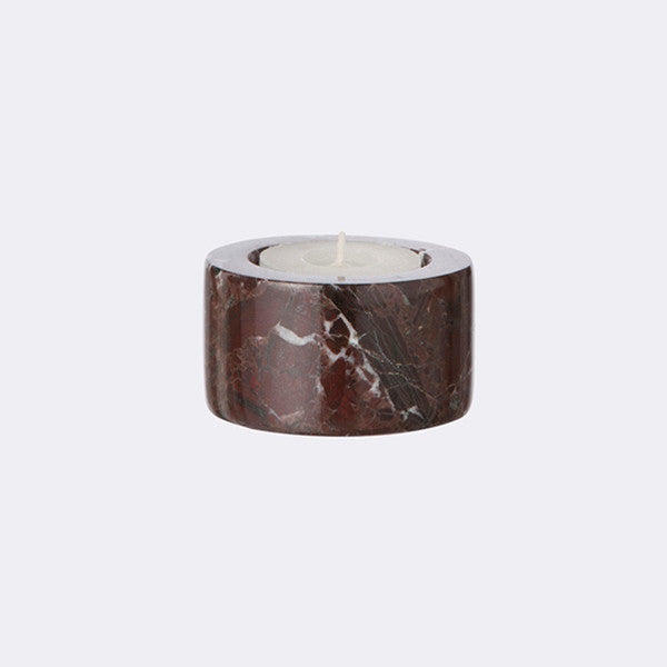 ferm LIVING - Tea light Marble Candleholder - Red