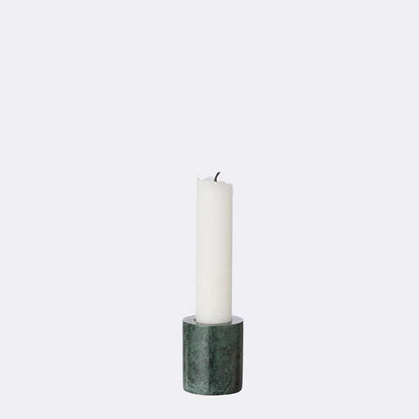 ferm LIVING - Small Marble Candleholder - Green