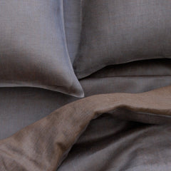 Area Bedding Nile Grey/Brown King Cases (Pr)