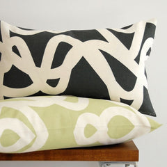 Area Bedding Current Graphite Long Decorative Pillow
