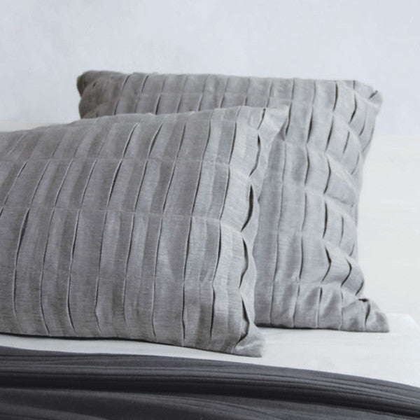 Area Bedding Fold Charcoal Decorative Pillow