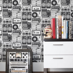 Aimee Wilder Wallpaper Analog Night Charcoal