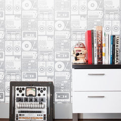 Aimee Wilder Wallpaper Analog Night Silver Cloud