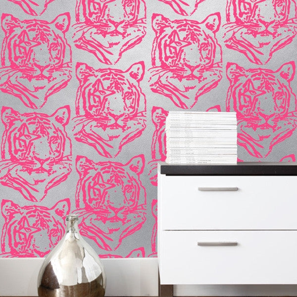 Aimée Wilder Wallpaper - Star Tiger - Silver Neon