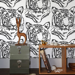 Aimée Wilder Wallpaper - Star Tiger - Charcoal