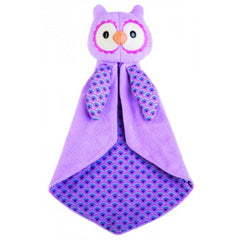 Apple Park - Patterned Blankie Purple Owl