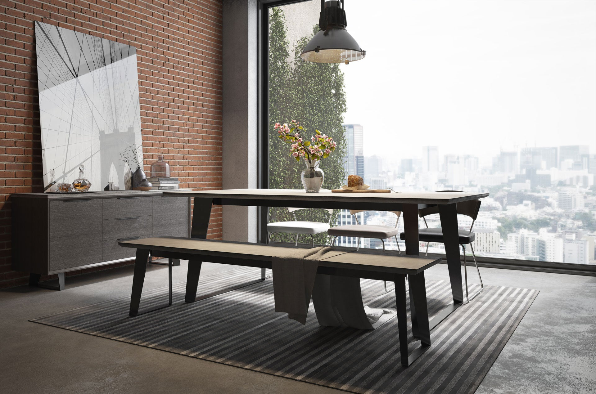 Modloft Amsterdam Bench Concrete