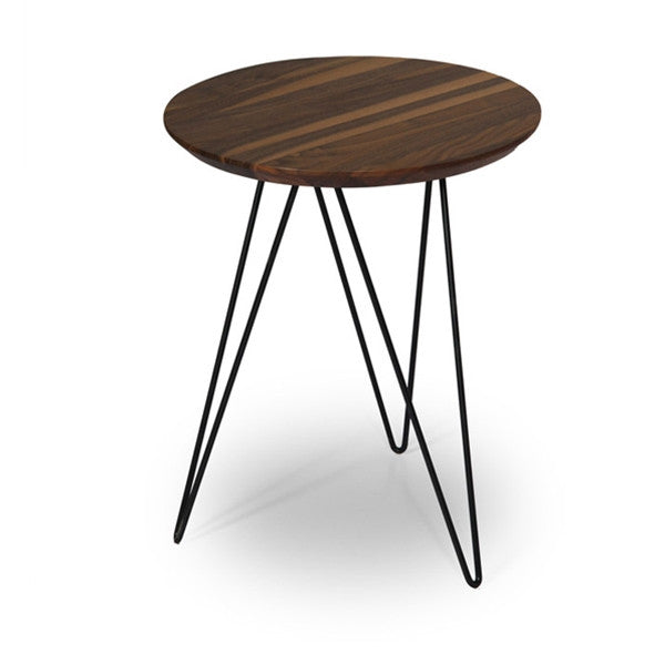 ION Design Solo Accent Table - Walnut Top/Black Base