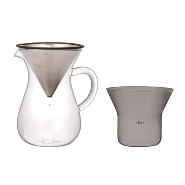 Kinto - Slow Coffee, Carafe Set 300ml Stainless Steel