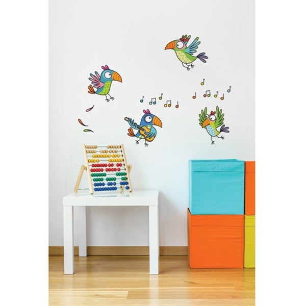 ADzif Wall Sticker Parrots