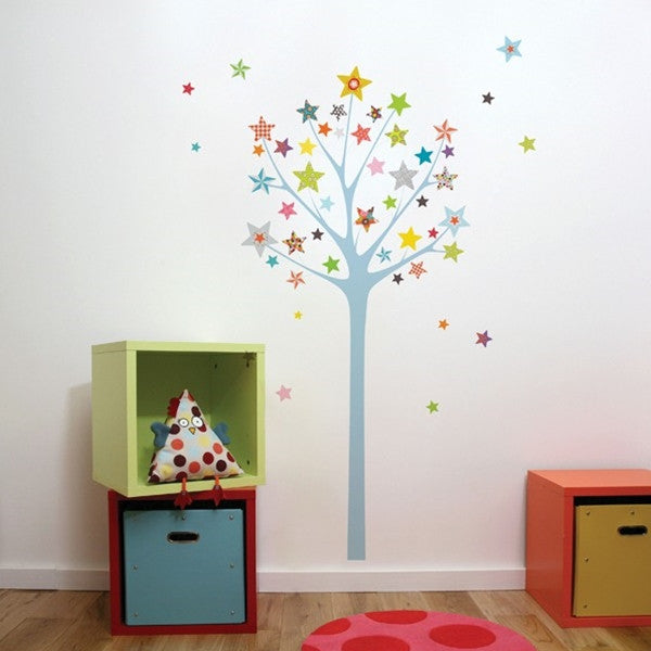 ADzif Wall Sticker Star Tree