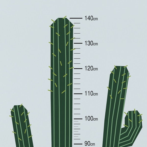ADzif Wall Sticker Cactus Height Gauge