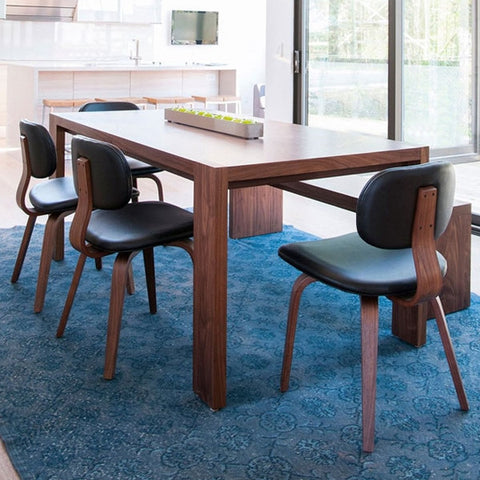Gus* Modern Plank Dining Table & Bench