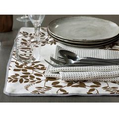 DwellStudio Placemats Hedgerow Dark Bronze Set of 4
