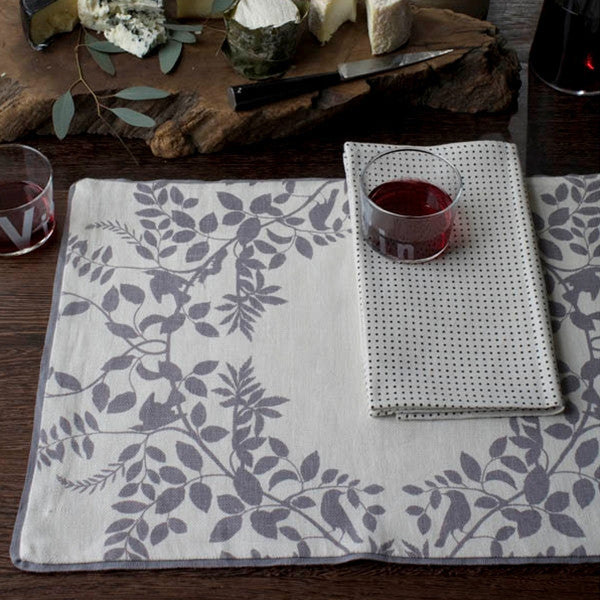 DwellStudio Placemats - Hedgerow Pewter (Set of 4)
