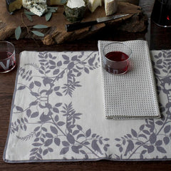 DwellStudio Placemats Hedgerow Pewter Set of 4