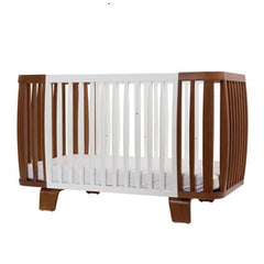 Bloom Retro Crib Oak / White