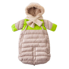 7 A.M. - Doudoune 100 Small (0-3 M) Beige/Neon Lime