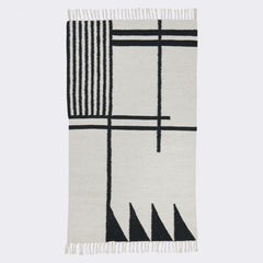 ferm LIVING - Kelim Rug - Black Lines - Small