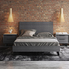 Modloft Amsterdam King Bed Grey Oak
