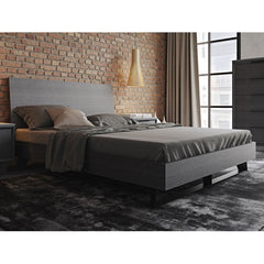 Modloft Amsterdam Queen Bed Grey Oak