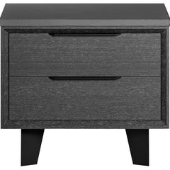 Modloft Amsterdam Nightstand Concrete on Grey Oak