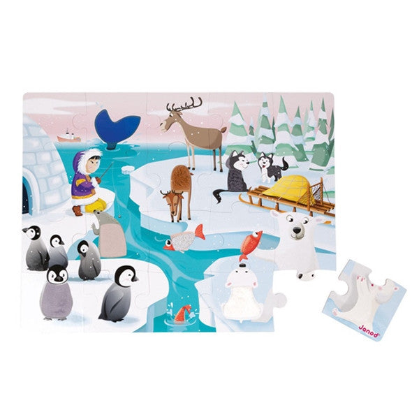 Janod Tactile Puzzle 'Life on Ice' 20pcs