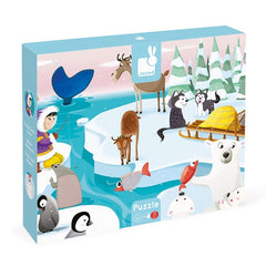 Janod - Tactile Puzzle 'Life on Ice' - 20pcs