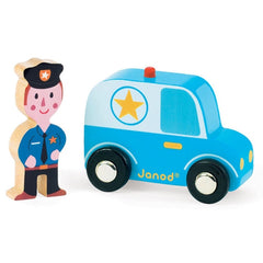 Janod - Story Set City Police Car & Policeman