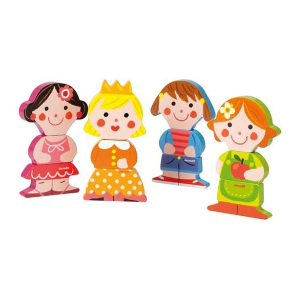 Janod - Funny Magnets - Dolls