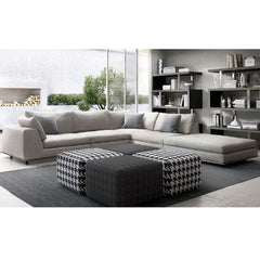 Modloft Perry 1 Left Arm Corner Sofa Moonbeam
